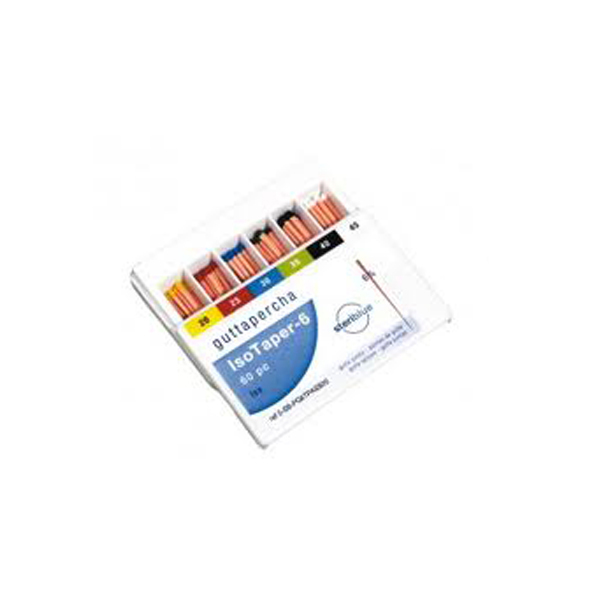 ISOTAPER POINTES GUTTA 6% NO25 (60) STERIBLUE