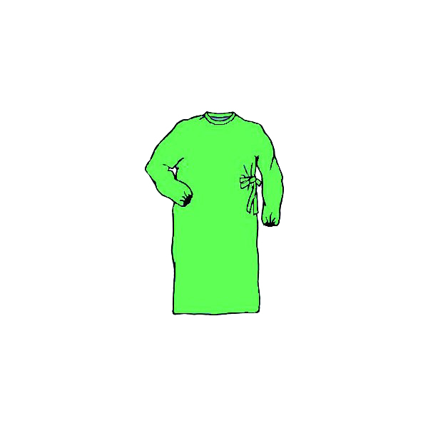 BLOUSE ISOLATION STERILE VERTE (1)